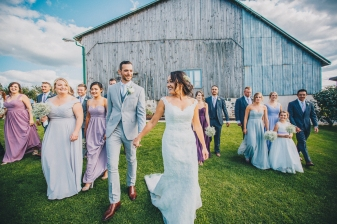 Classic Barn Wedding Group Bridal Party