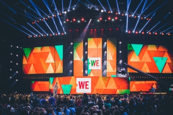 We Day stage was unreal.