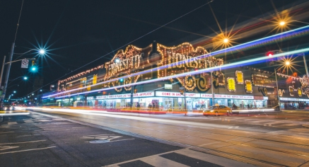 Honest Eds Toronto Long Expsure Photo