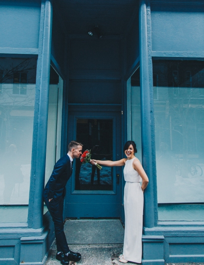 Snowy Downtown Halifax Wedding Vibes