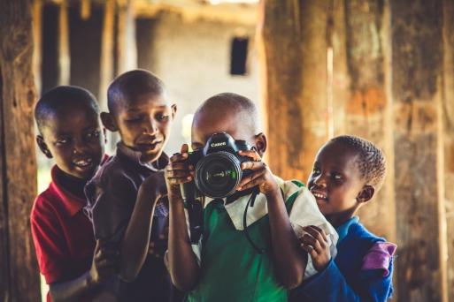Some Kenyan Boys Getting the Photo