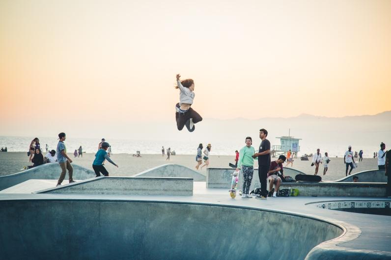 Legendary Venice Beach Skatepark