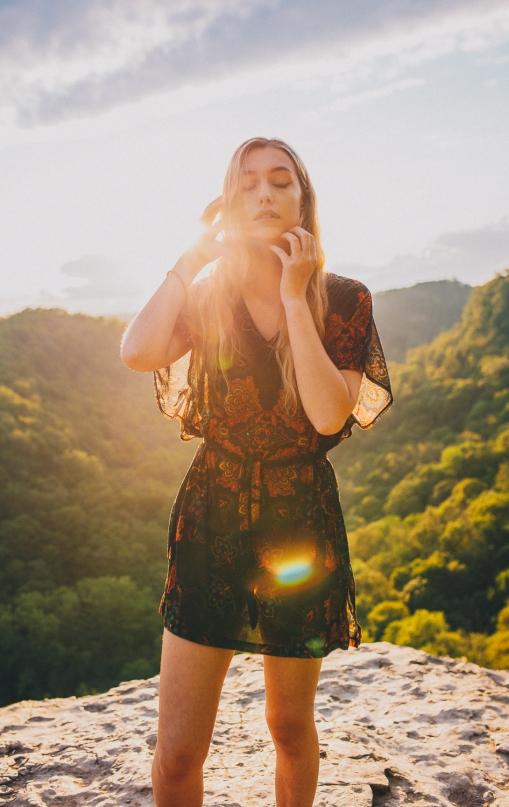 Dundas Peak at Sunset with Model