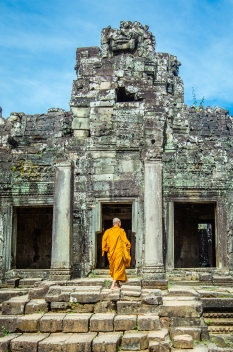 A Monk at Angkor Wat, Cambodia
