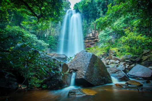 Hidden waterfall in the middle of Cambodia