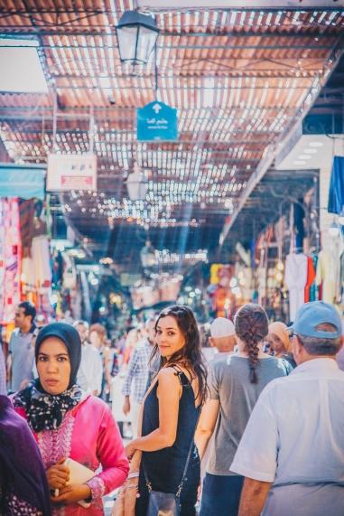 Inside Morocco's Medina with model
