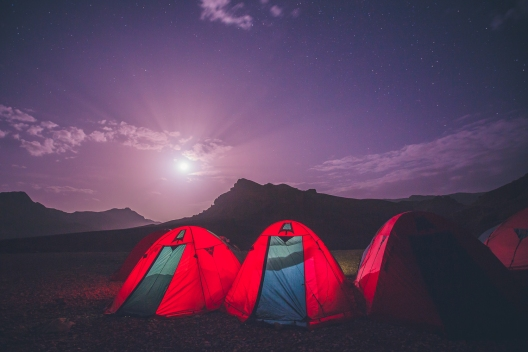 Camping in the Atlas Mountains of Morocco