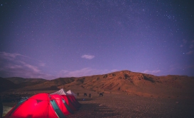 Camping in Morocco in High Atlas Mountains