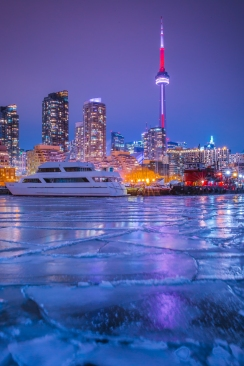 Frozen Toronto Night Photo