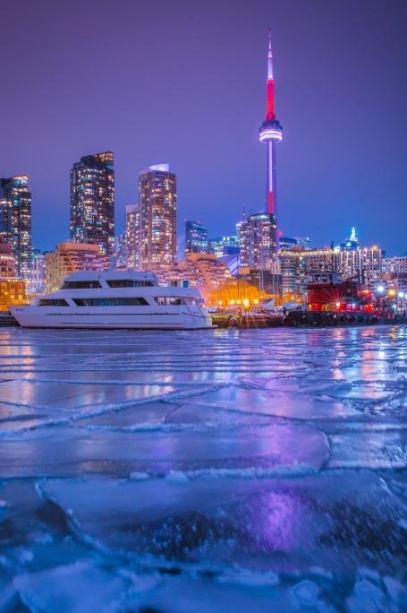 Frozen Toronto Night Photo