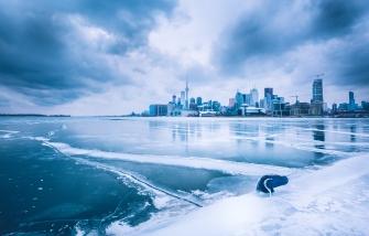 Toronto Winter Landscape, Polson Pier