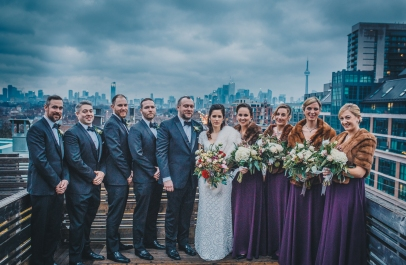 Winter Wedding Rooftop of Gladstone Hotel