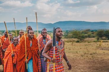 Maasai Celebration in Kenya.