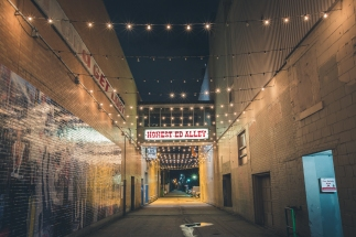 Honest Eds Alley at Night