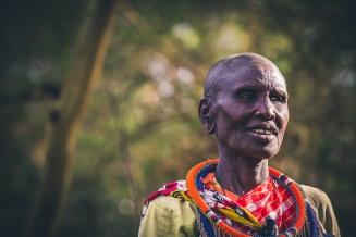 Maasai Mama in Kenya Portrait