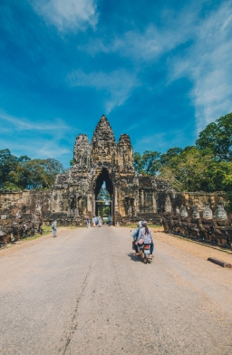 Exploring Angkor Thom in Cambodia