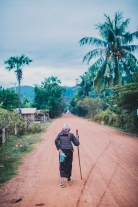 Old man in rural Cambodia.