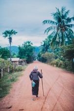 Old man in rural Cambodia.