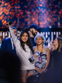 Jessie Reyez and her JUNO Win