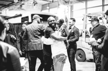 Jessie Reyez and team backstage JUNOS 2018