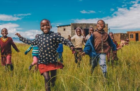 School kids in Lesotho, Africa