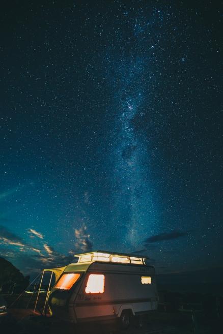 Long exposure of Milky Way in Wild Coast, South Africa