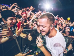 Imagine Dragons with the fans at WayHome