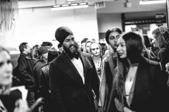 NDP leader Jagmeet Singh backstage at JUNOs