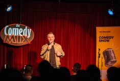 D.J. Demers performing at JUNOs Comedy