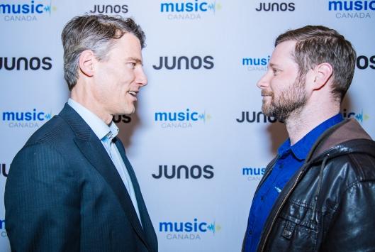 Vancouver Mayor Gregor Robertson and Dan Mangan at JUNOs