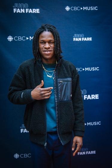 Daniel Caesar at the JUNO Fan Fare