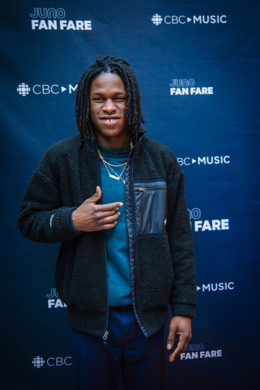 Daniel Caesar at the JUNO Fan Fare