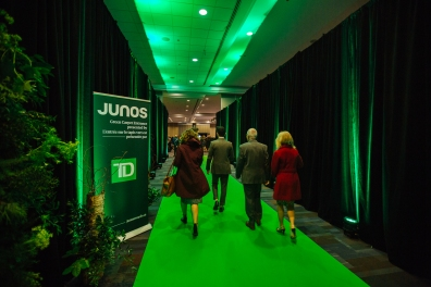 The Green Carpet at JUNO Awards Gala in Vancouver