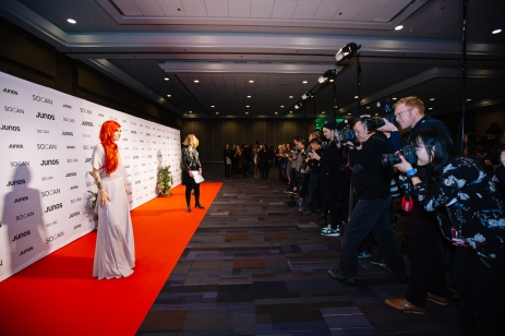 Lights on the red carpet at JUNOs Gala 2018
