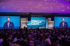 Tom Power hosting the JUNOs Gala 2018