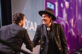 Win Butler at Arcade Fire accepting their International Acheivement JUNO at Gala 2018