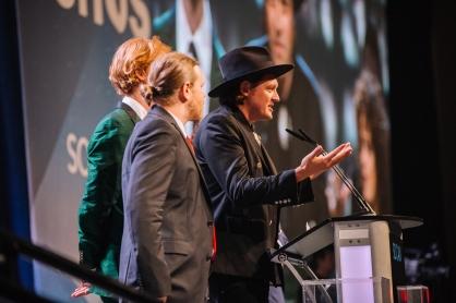 Arcade Fire accepting their International Acheivement JUNO at Gala 2018