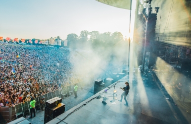 Vance Joy from Backstage at WayHome Festival