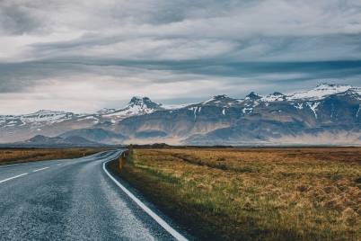 Driving through Iceland