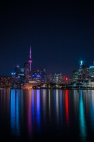 Toronto Skyline at Night Long Exposure
