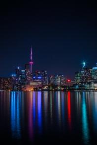 Toronto Skyline at Night Long Exposure