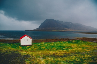The cabin from The Secret Life of Walter Mitty in Iceland