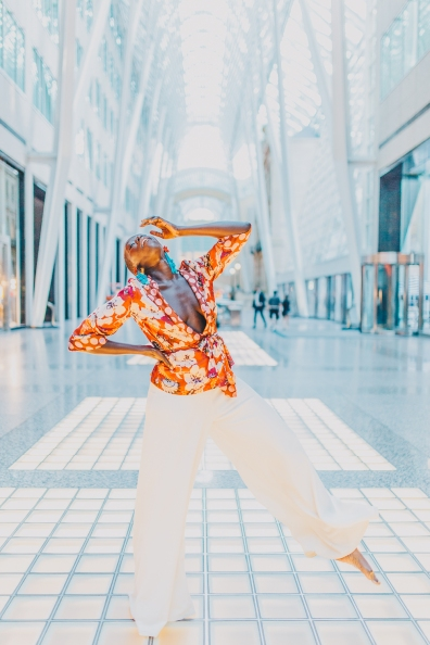 Lily Portrait in Brookfield Place Toronto
