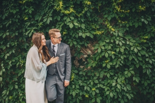 Toronto Wedding Ivy Wall Queen St.
