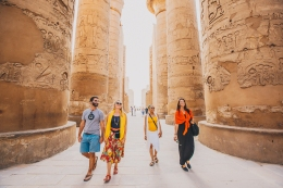 Checking out the Sites in Luxor, Egypt