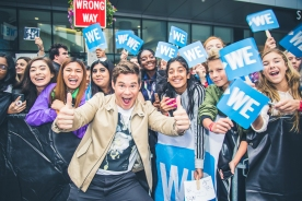 Adam Devine with Fans at We Day Toronto 2018
