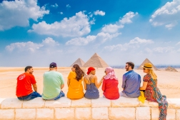 Hanging at the Great Pyramids of Giza