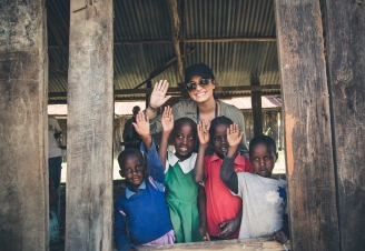 Demi Lovato with WE Charity in Kenya