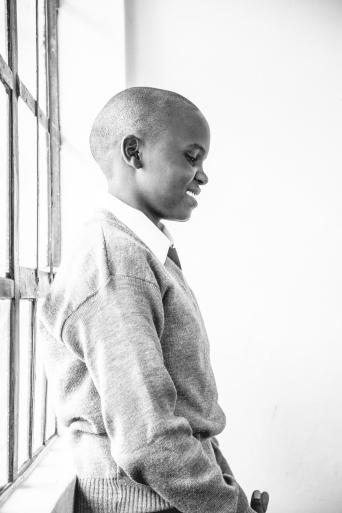 School kid in Maasai Mara with WE Charity