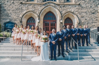 Big wedding party style in Toronto